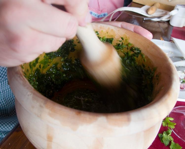 Mojo making in Tenerife