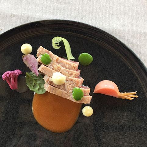 Tuna dish at Borgo Fonte Scura