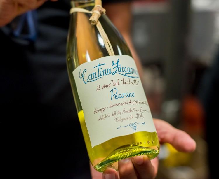 Pecorino wine bottle