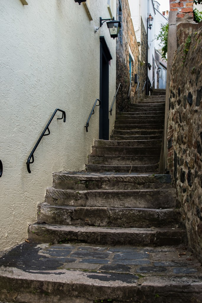 Steps at St Peter Port, Guernsey
