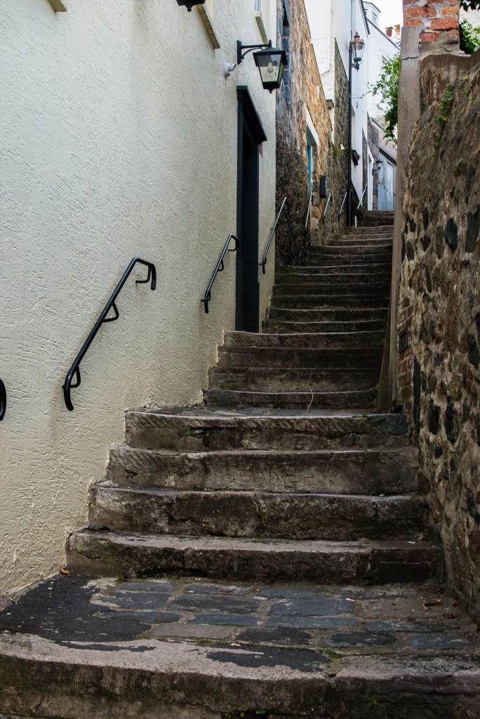 Steps at St Peter Port, Guernsey