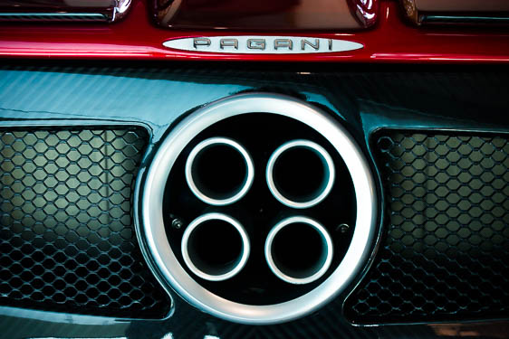 Exhaust tubes of a Pagani Car