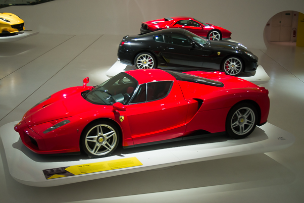 Ferraris in the Ferrari Museum, Modena