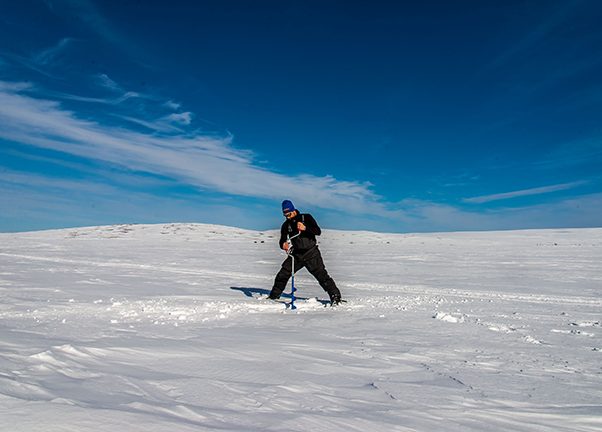 Ice drilling in Sweden