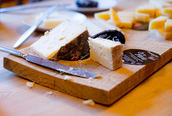 Cheese platter in Sweden